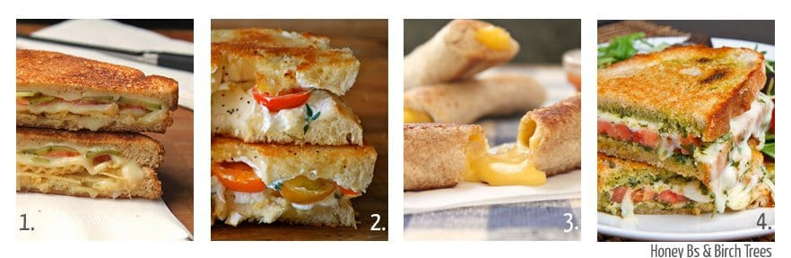 Eight Great Grilled Cheese Sandwiches | Honey Bs and Birch Trees
