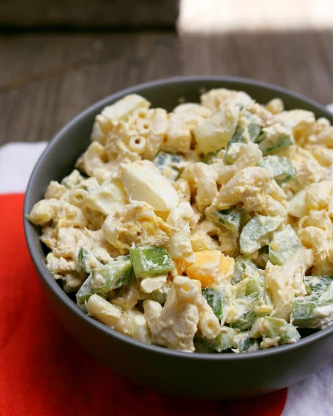 picture of boiled egg tuna macaroni salad recipe