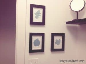 Leaf Silhouettes for the Bathroom and Free Printables