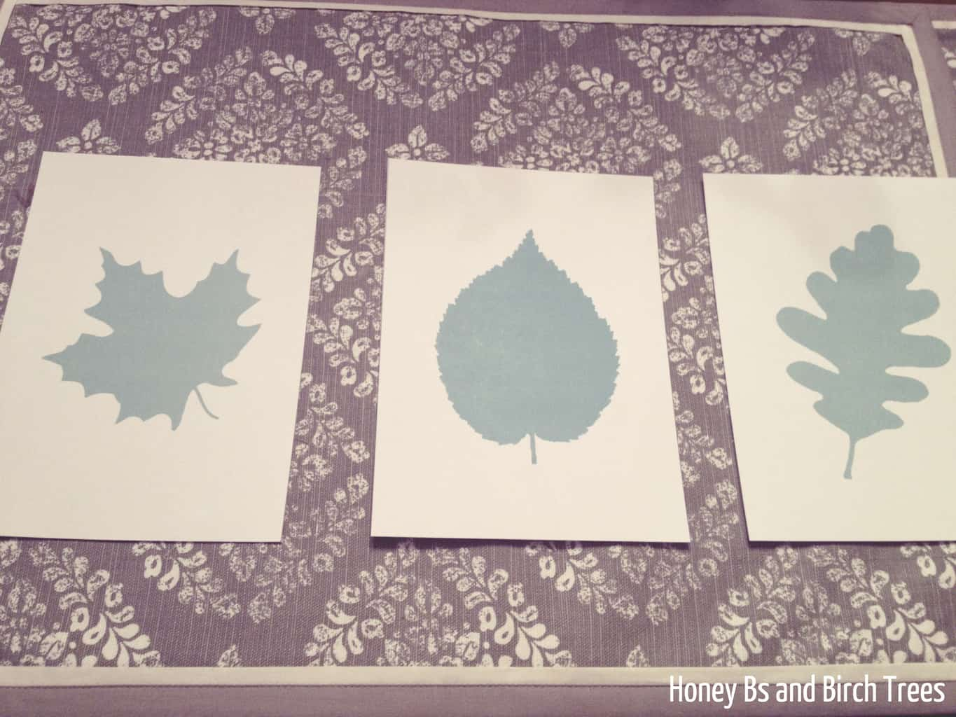 Leaf Silhouettes for the Bathroom and Free Printables | Honey Bs and Birch Trees