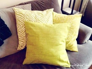 My First Sewing Project – DIY Throw Pillow Covers