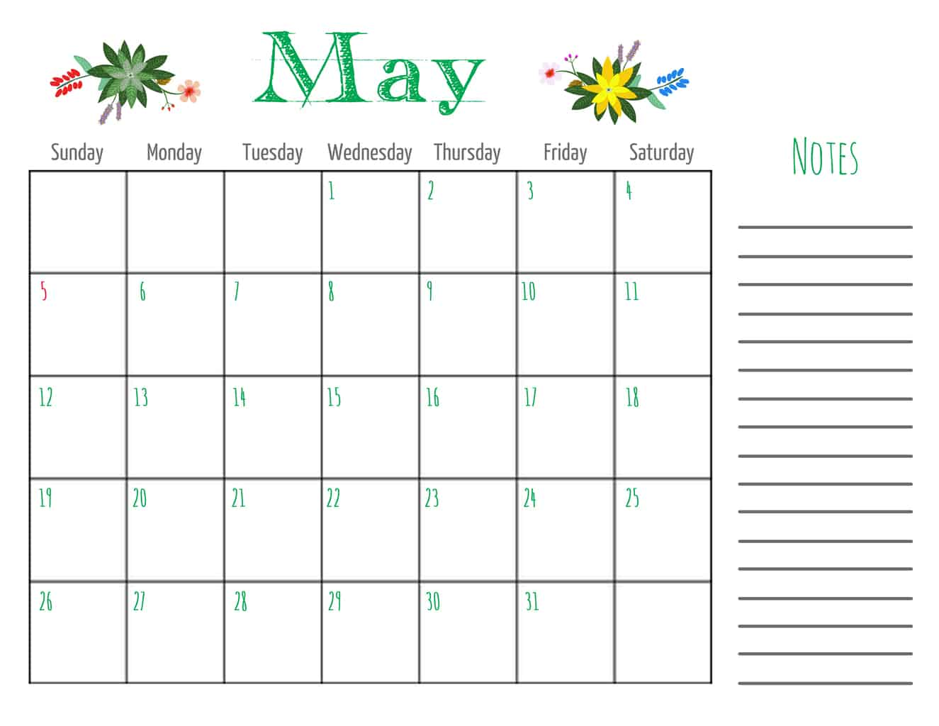 May 2013 Calendar | Honey Bs and Birch Trees