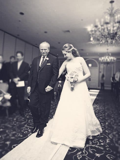 Dad walking me down the aisle