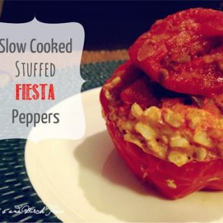 Slow Cooked Stuffed Fiesta Peppers