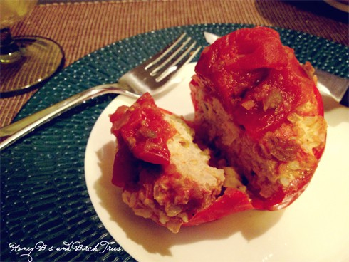 Slow Cooked Stuffed Fiesta Peppers | Honey Bs and Birch
