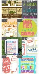 16 Free Summer Printables