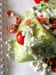 Green Goddess Wedge Salad - try this herby dressing the next time you make a wedge salad at home! | www.honeyandbirch.com