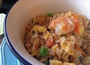 Shrimp Fried Rice with Sweet Soy Sauce | www.honeyandbirch.com #glutenfree