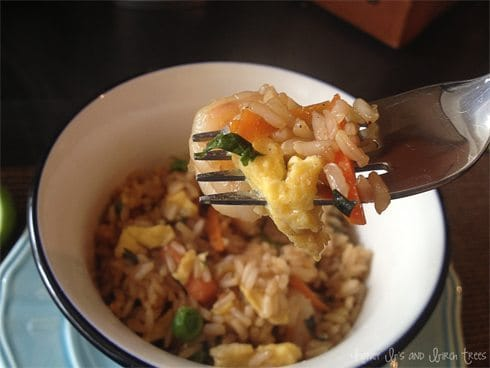 Shrimp Fried Rice with Sweet Soy Sauce
