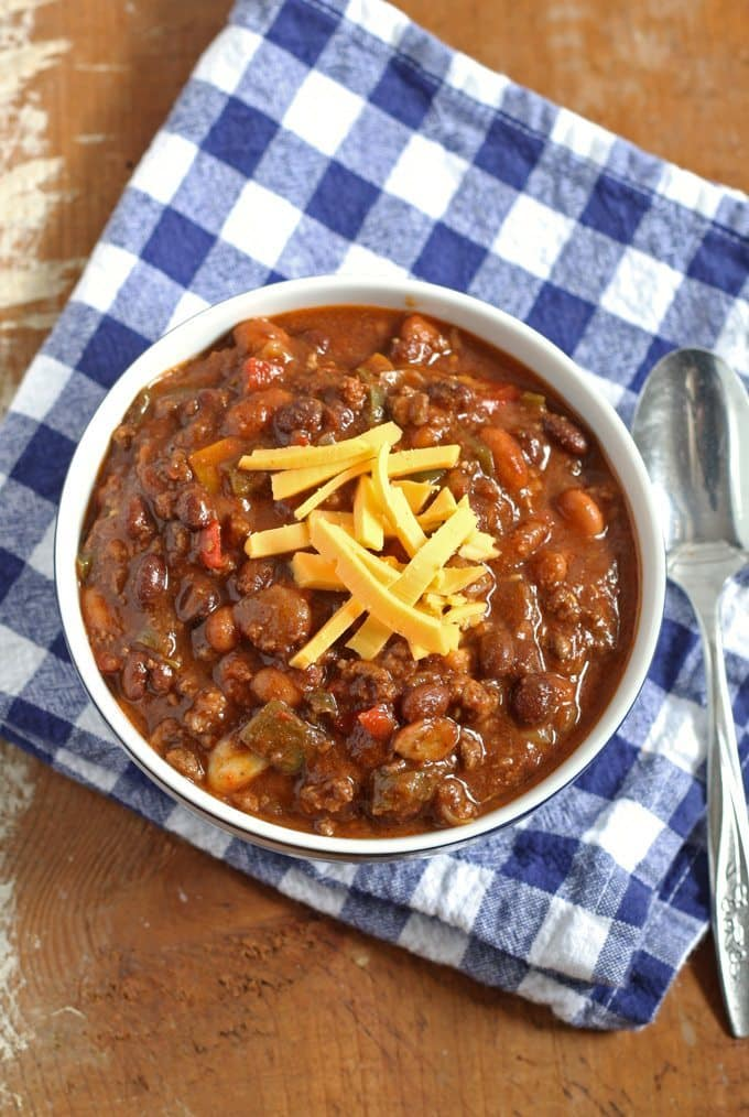 Slow Cooker Chorizo and Ground Beef Chili | Honey and Birch
