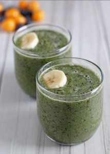 Banana Blueberry Gooseberry Green Smoothie