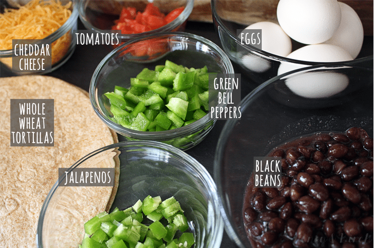 Easy Black Bean Breakfast Burritos