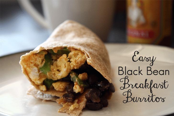 Easy Black Bean Breakfast Burritos