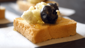 Blue Honey Mini Toast Appetizers