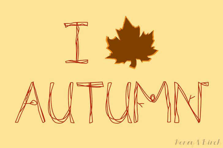 I Leaf Autumn Free Printable