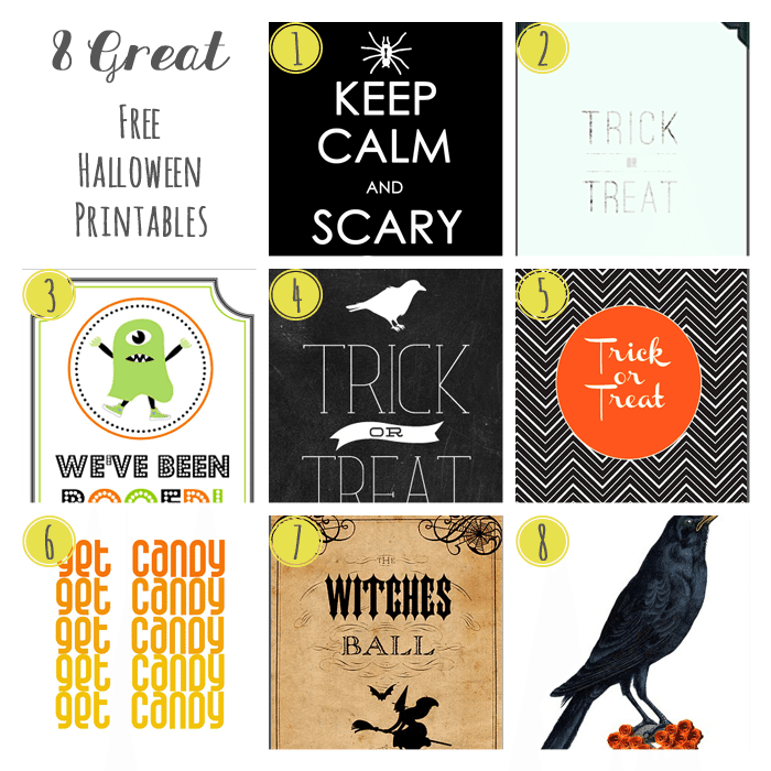 8 Great Free Halloween Printables
