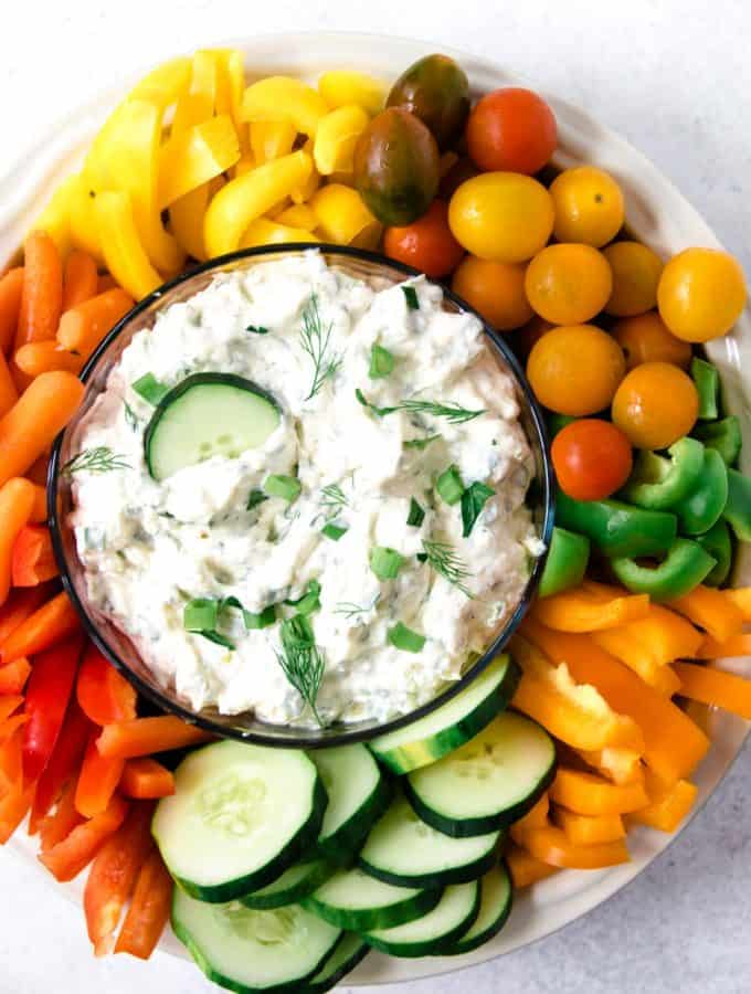 photo of veggie dip