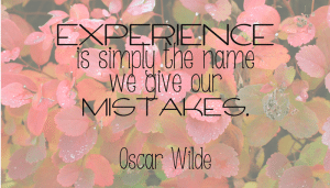Words for the Weekend: Experience