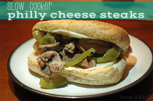 Recipe Redo – Slow Cooker Philly Cheese Steak Sandwiches