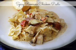 Spicy Romano Chicken Pasta