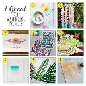 8 Great DIY Watercolor Projects