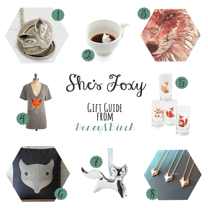 Fox inspired gifts for her under $30. Perfect for birthdays and holidays!