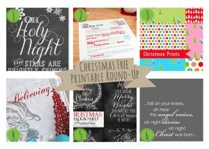 Christmas Free Printable Round-Up