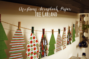 Easy Christmas Scrapbook Paper Tree Garland