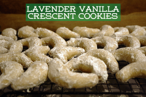 Lavender Vanilla Crescent Cookies and the FB Cookie Swap 2013
