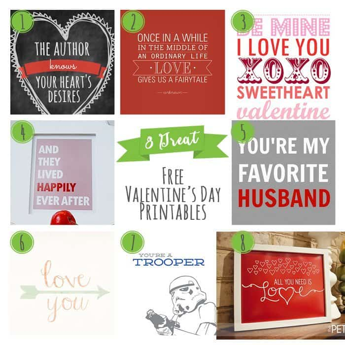 8 Great Valentine's Day Free Printables