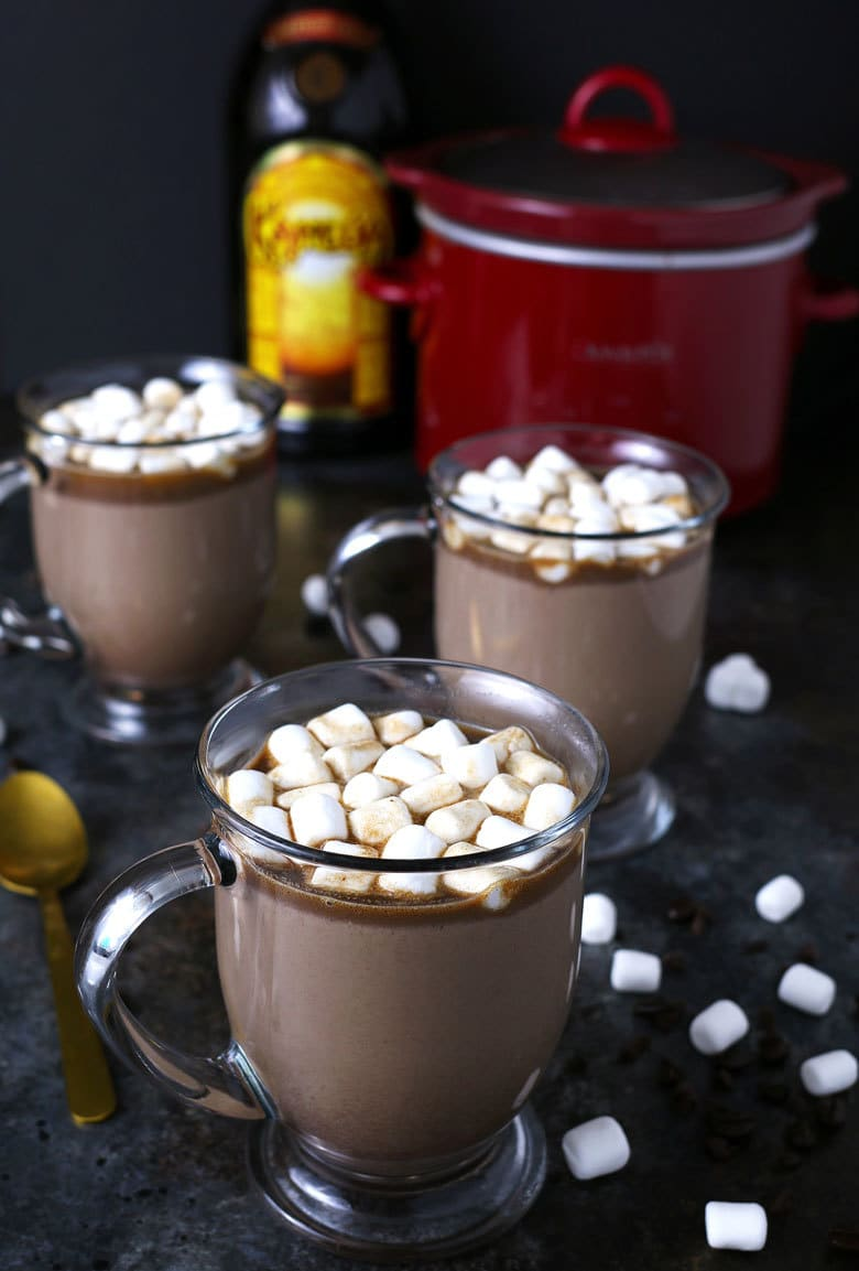 3 mugs of Kahlua hot chocolate