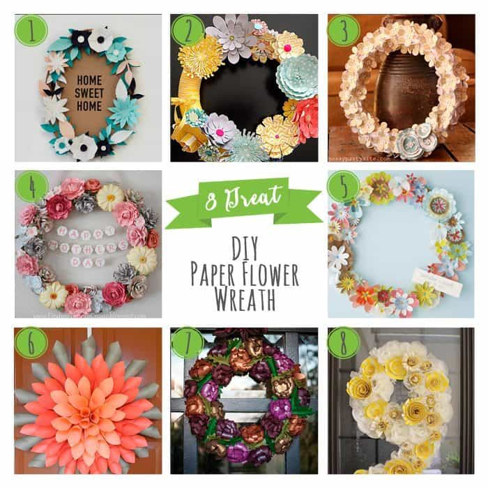 8 Great DIY Paper Flower Wreaths