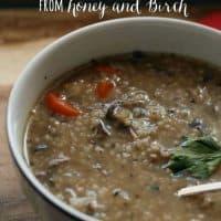 Beef Mushroom Barley Soup