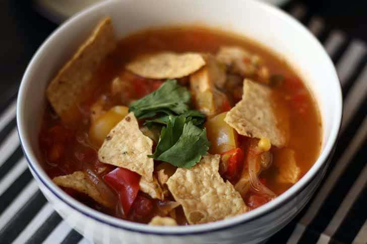 Chicken Tortilla Soup | www.honeyandbirch.com