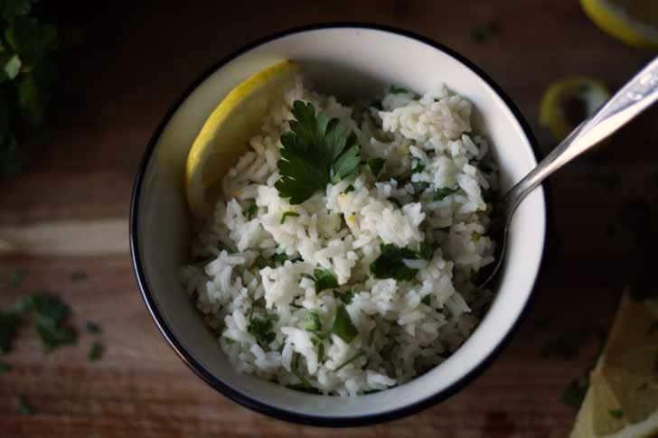 Lemon Parsley Rice