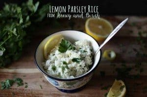 Lemon Parsley Rice