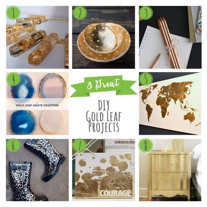8 Great DIY Gold Leaf Projects
