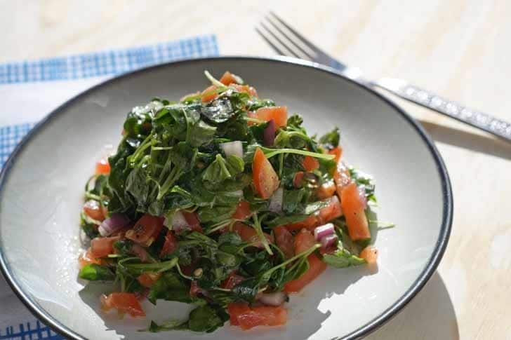 Baby Arugula and Tomato Salad