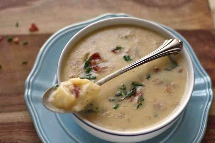 Loaded Baked Potato Soup - Honey & Birch