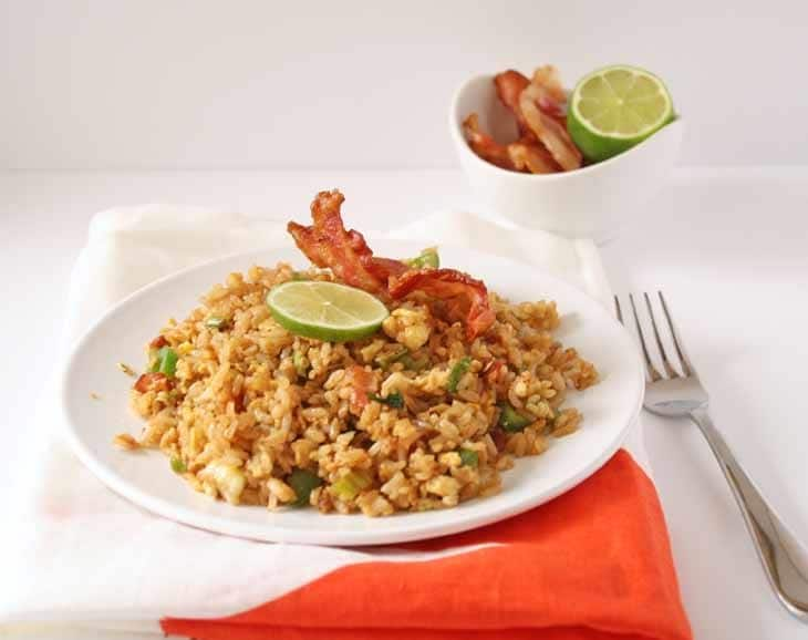 Bacon Fried Rice - Honey & Birch
