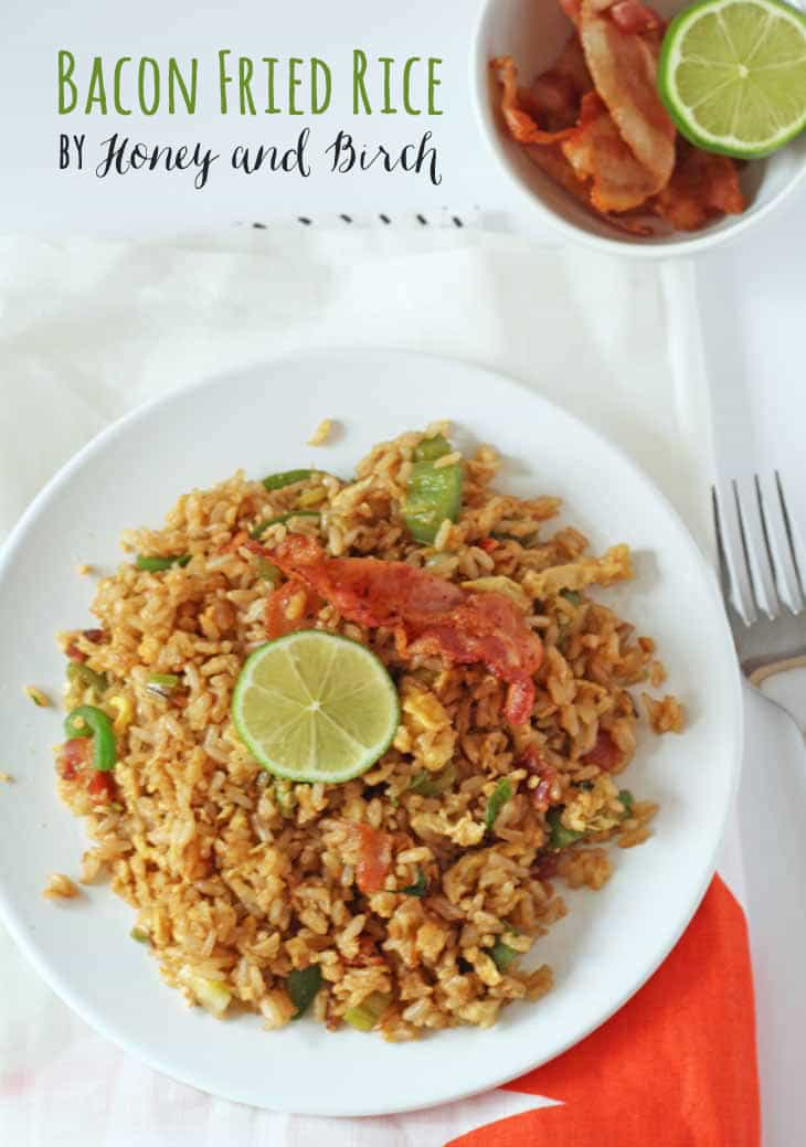Bacon Fried Rice - Honey and Birch #bacon #friedrice