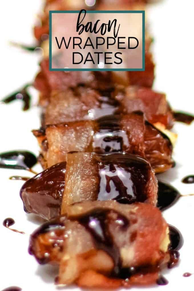 bacon wrapped date recipe pinterest pin