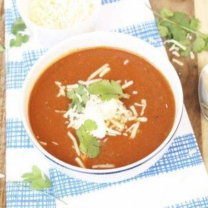 Ground Beef and Tomato Chipotle Soup