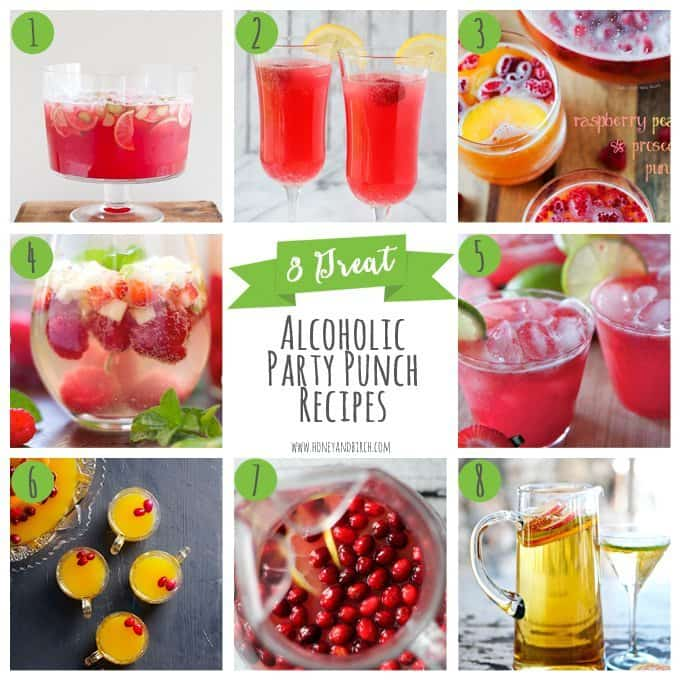 8 Great Alcoholic Party Punch Recipes - Honey and Birch