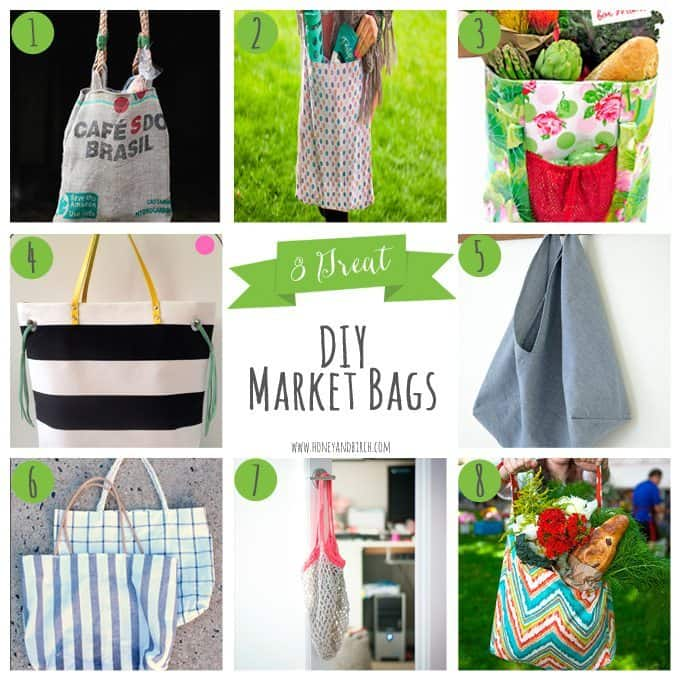 8 Great DIY Market Bags | Honey and Birch