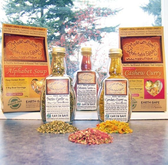 Eco Artisan Edible Gift Set by Made with Love Delectable Edibles   5 Etsy Shops for Food Gifts