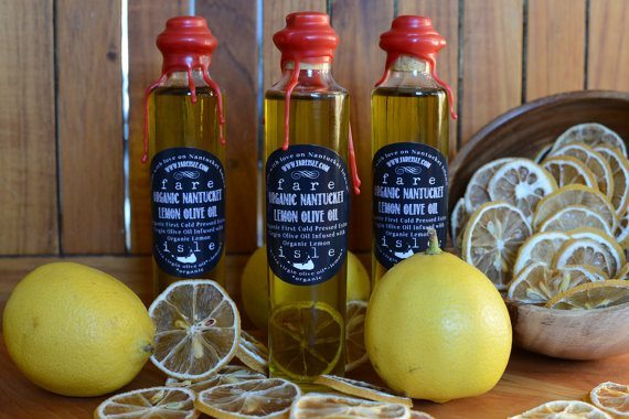 Fare Isle Lemon Olive Oil-Organic-Extra Virgin   5 Etsy Shops for Food Gifts
