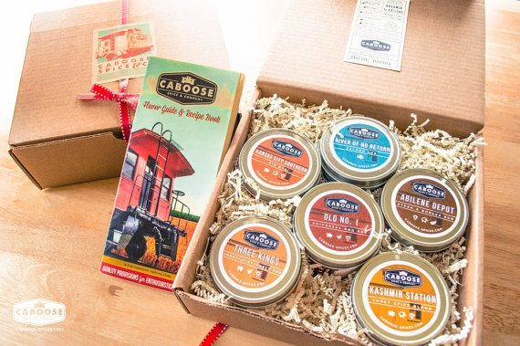 Large BBQ Gift Set 6 Dry Rubs & Recipe Book   5 Etsy Shops for Food Gifts