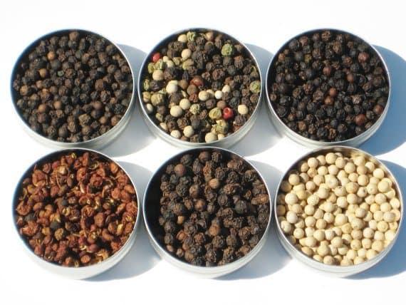 Peppercorn Sampler - 6 gourmet peppercorns   5 Etsy Shops for Food Gifts