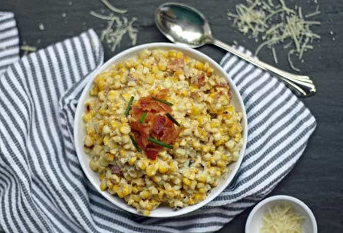 Roasted Cream Corn with Bacon | Honey and Birch